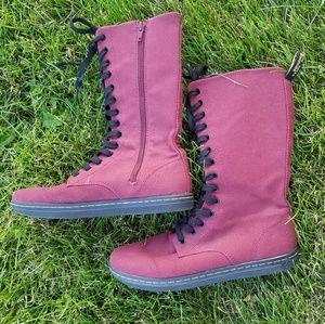 Dr. Martens Shoes - Dr Martens Battersea high lace canvas boots size 8